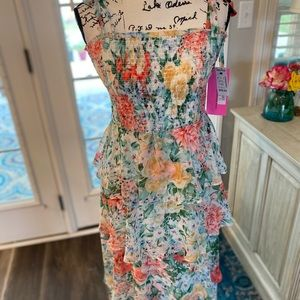 Betsey Johnson Maxi Sun Dress Ruffled Layers